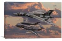 Vulcan and Sea Vixen , Canvas Print