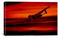 Bomber Sky, Canvas Print