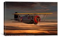 Grumman F3F Biplane Fighter, Canvas Print