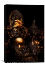 Masque; Black & Gold, Canvas Print