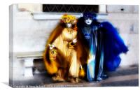 Carnaval; Blue And Gold., Canvas Print