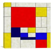 Mondrian Is A Square, Canvas Print
