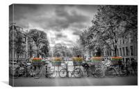 Cityscape Amsterdam, Canvas Print