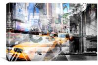 New York City | Geometric Mix No. 9, Canvas Print