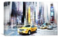 City-Art TIMES SQUARE II, Canvas Print