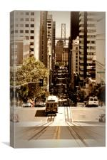 California Street SAN FRANCISCO, Canvas Print