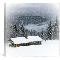 Bavarian Winter's Tale II, Canvas Print