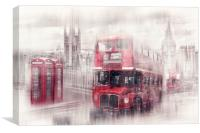City-Art LONDON Westminster Collage, Canvas Print