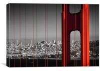 Golden Gate Bridge in Detail, Canvas Print