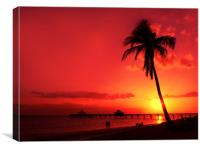 Romantic Sunset, Canvas Print
