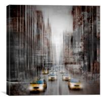 City-Art NYC 5th Avenue Traffic, Canvas Print