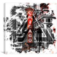 Chicago | Geometric Mix No. 2, Canvas Print