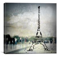Digital-Art PARIS Eiffel Tower No.2, Canvas Print