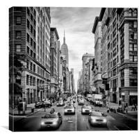 NYC 5th Avenue | Monochrom, Canvas Print