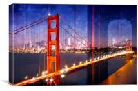 City Art Golden Gate Bridge Composing, Canvas Print