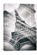 Eiffel Tower Double Exposure, Canvas Print
