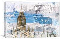 City Art WESTMINSTER Collage, Canvas Print