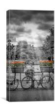 AMSTERDAM Gentlemen's Canal | upright panoramic vi, Canvas Print