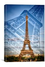 Eiffel Tower Double Exposure II, Canvas Print