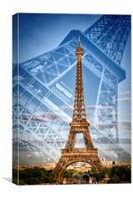 Eiffel Tower Double Exposure II, Canvas Print