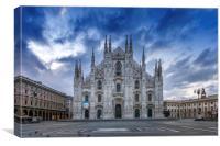 MILAN Cathedral Santa Maria Nascente, Canvas Print