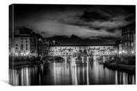 FLORENCE Ponte Vecchio at Sunset, Canvas Print