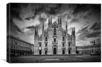 MILAN Cathedral Santa Maria Nascente | Monochrome, Canvas Print