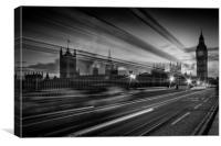 LONDON Westminster Bridge Traffic, Canvas Print