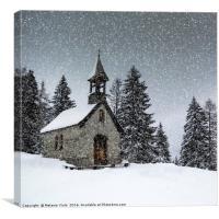 Bavarian Winter's Tale Anna Chapel, Canvas Print