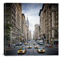 NEW YORK CITY 5th Avenue Street Scene, Canvas Print