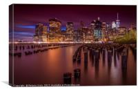 Manhattan Skyline at Sunset , Canvas Print