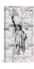 Graphic Art NEW YORK CITY Statue of Liberty, Canvas Print
