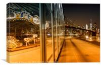 BROOKLYN Jane's Carousel & Manhattan Skyline , Canvas Print