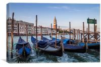 VENICE Grand Canal and Goldolas, Canvas Print