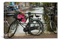 Amsterdam bikes, Canvas Print