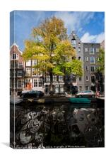 Amsterdam architectural reflections., Canvas Print