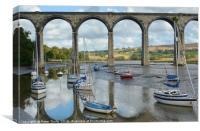 St Germans Viaduct,Cornwall , Canvas Print