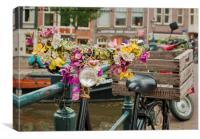 Amsterdam flowers, Canvas Print