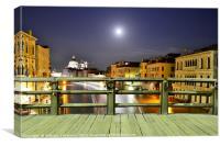 Full Moon Over Venice, Canvas Print