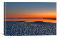 Sunset over Morecambe Bay, Canvas Print