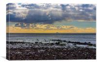 Sun, Sea, Sky and The Ailsa Craig, Canvas Print