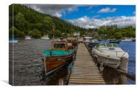 Boats at Balmaha, Loch Lomond, Scotland, Canvas Print