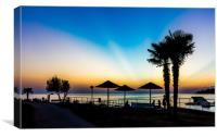 Sunset over The Adriatic Sea, Porec, Croatia, Canvas Print