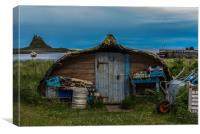 Boat Shed, Holy Isle, Lindisfarne, Canvas Print