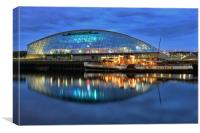 Glasgow Science Centre and The Waverley, Canvas Print