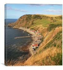 A Summers Evening at Crovie, Canvas Print