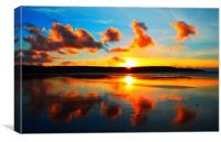Golden Beach Sunset, Canvas Print