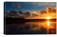 Angelic Sunset, Canvas Print