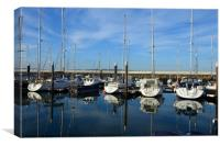 Scottish Marina Reflections, Canvas Print