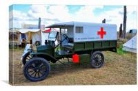 Ambulance on call, Canvas Print